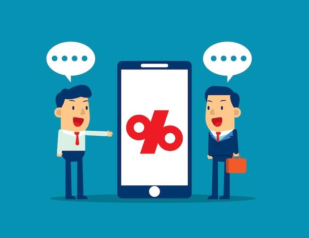 Business presentation beside smartphone