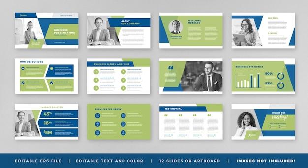 비즈니스 프레젠테이션 브로셔 가이드 디자인 또는 슬라이드 템플릿 또는 판매 가이드 슬라이더