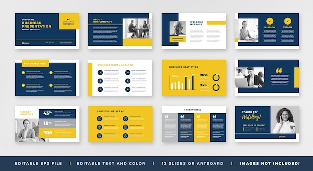 Business presentation brochure guide design or powerpoint slide template or sales guide slider