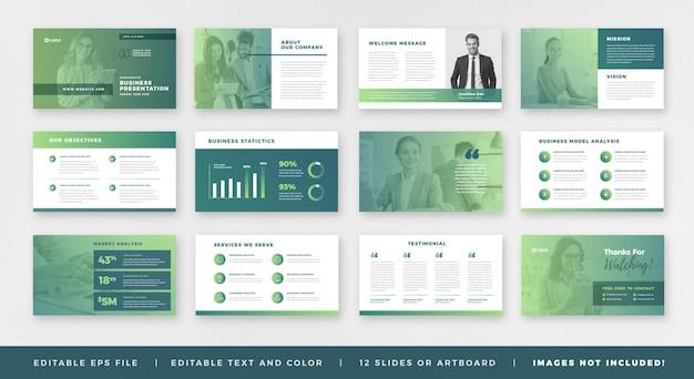 Business presentation brochure guide design or  slide template or sales guide slider
