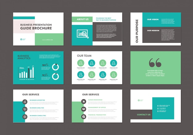 Business presentation brochure guide template