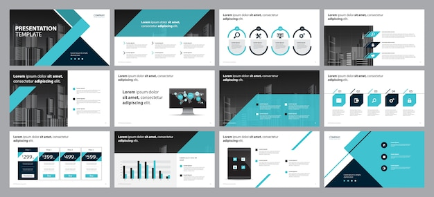 Business presentation design and  brochure layout