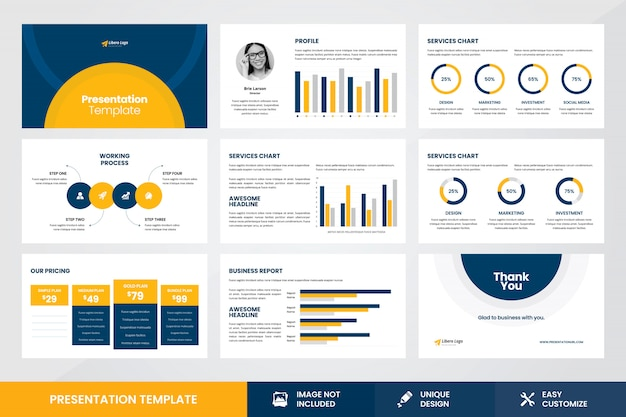 Business presentation design infographic element template