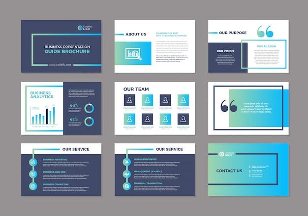 ビジネスプレゼンテーションデザインスライドテンプレート|セールスガイドスライダー