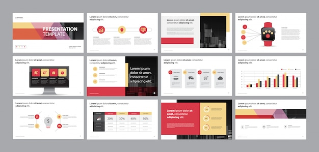 Business presentation design template and page layout design