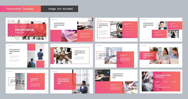 Business presentation design template