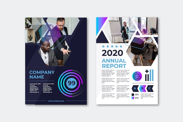 Business presentation flyer template annual report