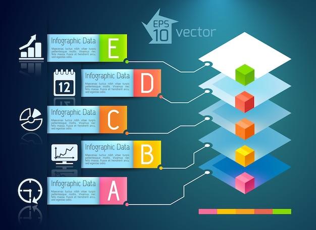 ビジネスプレゼンテーションのインフォグラフィックの概念