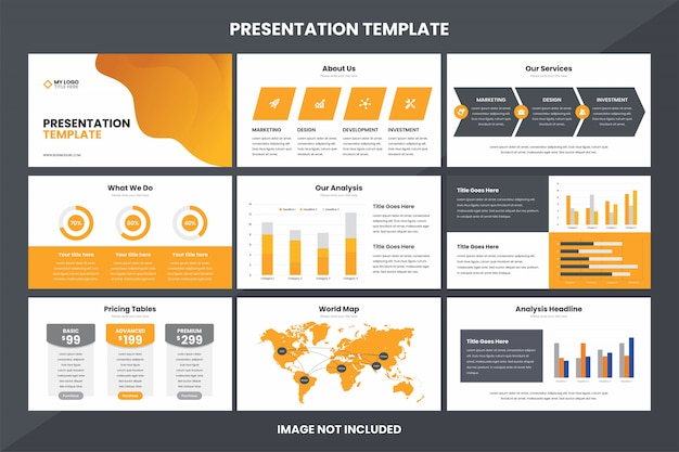 Business presentation  infographic element template
