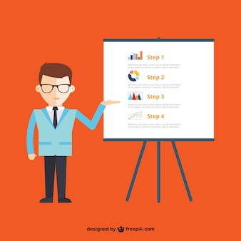 Business presentation infographic Free Vector