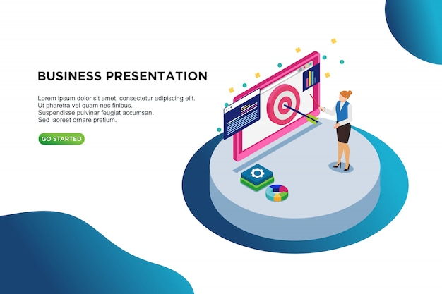 Business presentation isometric