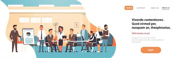 Business presentation landing page concept