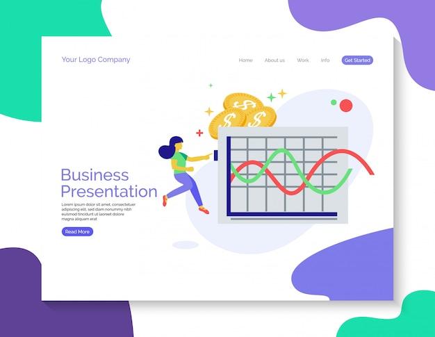 Business presentation landing page