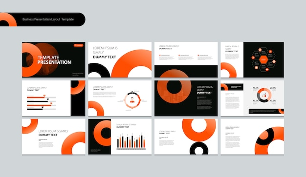 Business presentation layou design template