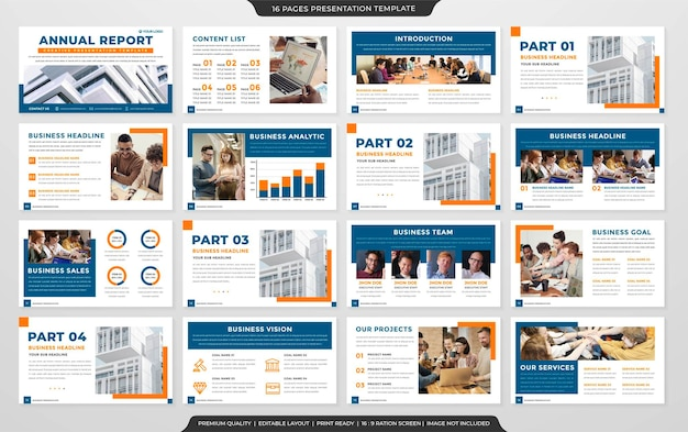 Business presentation layout concept template premium style