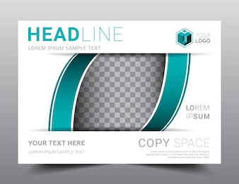 Business Presentation layout design template A4 size.