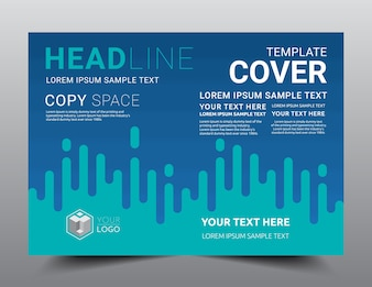 Business Presentation layout design template A4 size