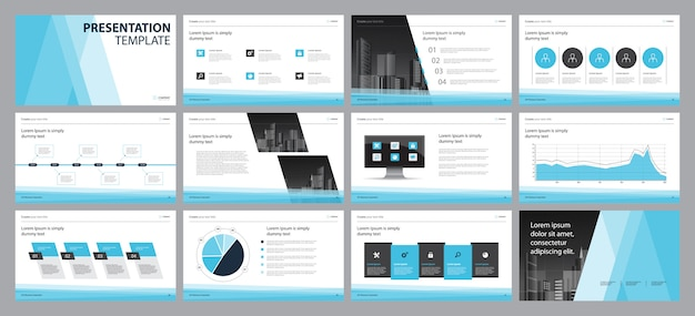 Business presentation layout design template  concept