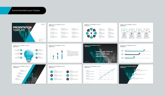 Шаблон дизайна макета бизнес-презентации