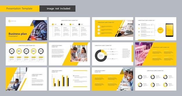 Business presentation layout design template
