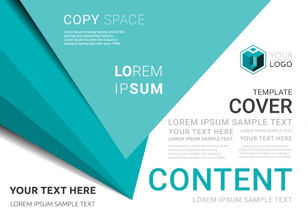 Business presentation layout design template.