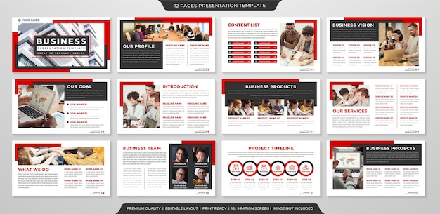 Business presentation layout template design with clean style and simple concept