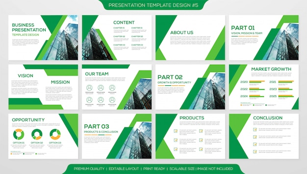Business presentation layout template