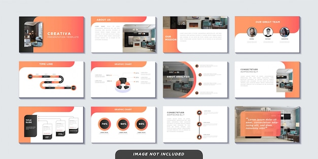 Business presentation pages template