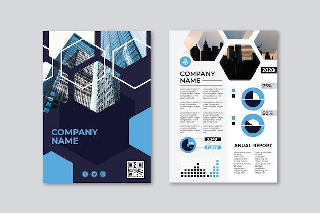 Business presentation poster template