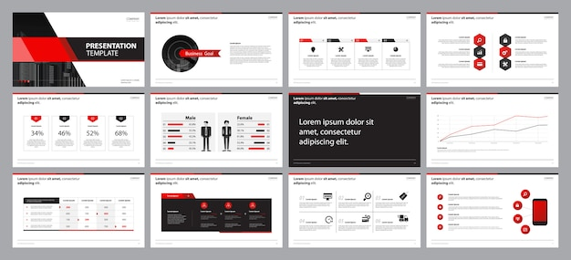 Business presentation slide  layout design template