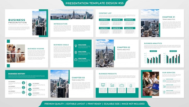 Business presentation slide template