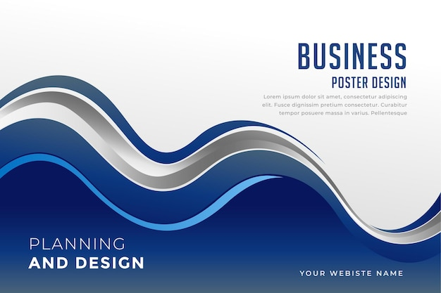 Modello di presentazione aziendale in stile ondulato blu