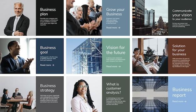 Business presentation template, company profile