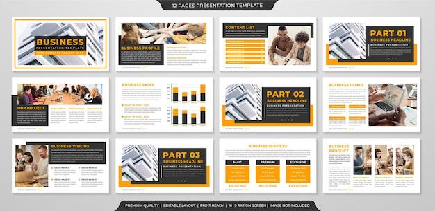 Business presentation template design