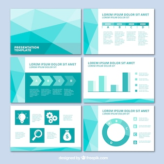 Business presentation template in flat style