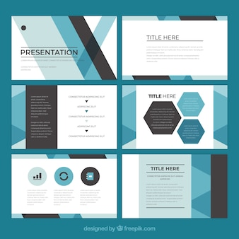 Powerpoint vectors photos and psd files free download business presentation template in flat style flashek