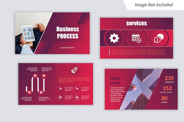Business presentation template (ppt) with unique infograph.