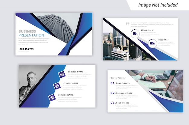 Business presentation template (ppt) with unique style.
