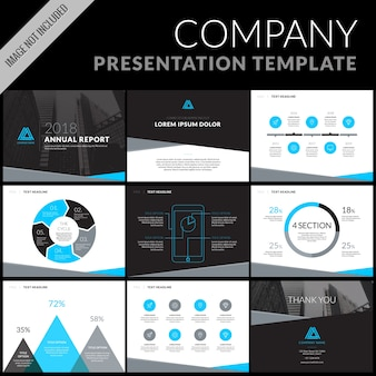 Business presentation template set