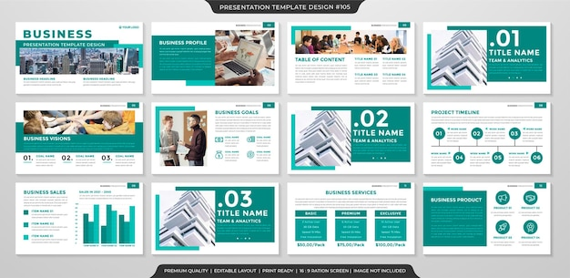 Шаблон бизнес-презентации в чистом стиле