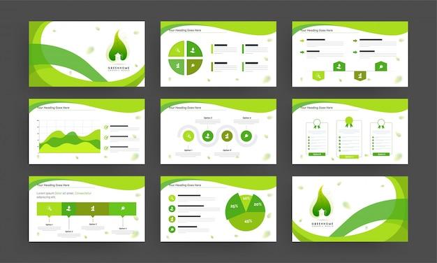 Infographic 요소와 비즈니스 프리젠 테이션 템플릿