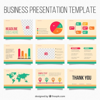 Powerpoint vectors photos and psd files free download business presentation template with infographic elements wajeb