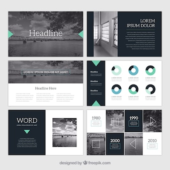 Business presentation template with photo