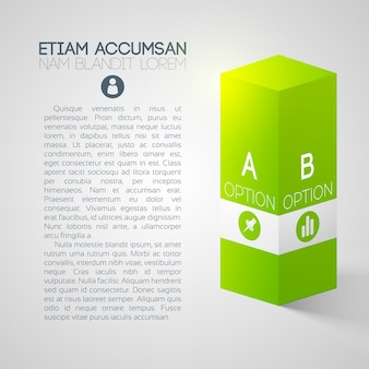 Business presentation template with two options
