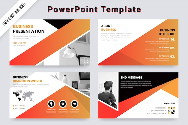 Business presentation template  with world map