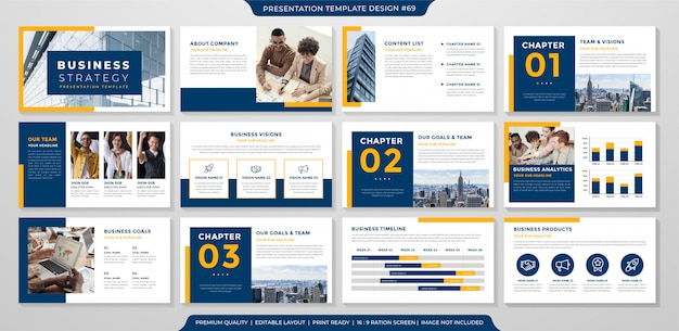 Business presentation template