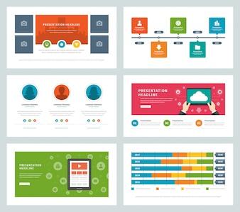 Бизнес презентации шаблоны плоский дизайн вектор инфографики иконки и элементы.