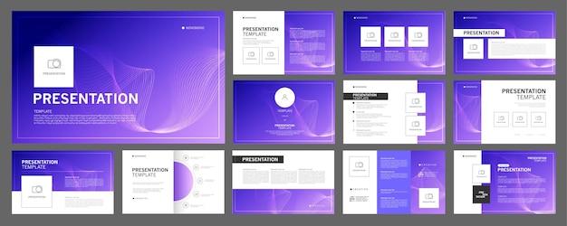 Набор шаблонов бизнес-презентаций для использования в презентационных флаерах и листовках корпоративного отчета