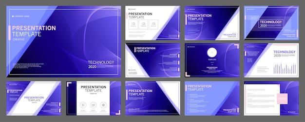 Business presentation templates set use in presentation flyer and leaflet corporate report