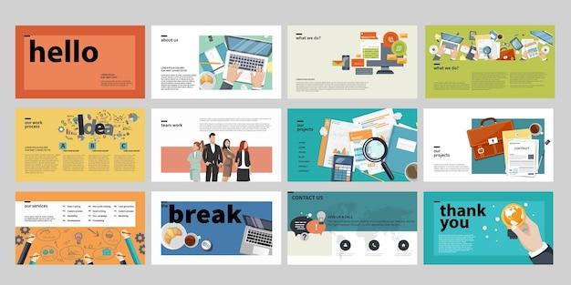 Набор шаблонов бизнес-презентаций